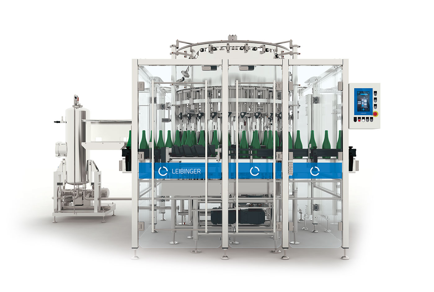 Leibinger TRANSVASA Transvasion machine for bottle fermented sparkling wine